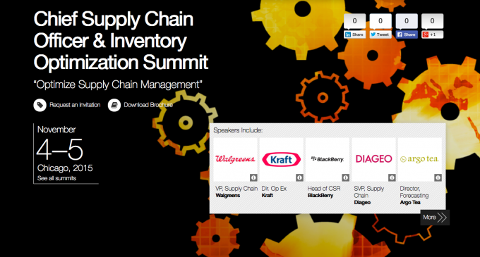 Chief Supply Chain Officer Summit – CHICAGO 2015