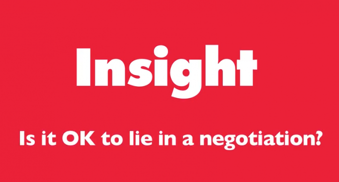 Insight – Is it OK to lie?
