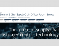 15th Annual 3PL Summit & Chief Supply Chain Officer Forum – Europe October 2017