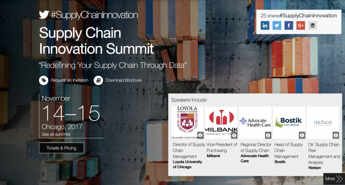Supply Chain Innovation Summit – CHICAGO November 2017
